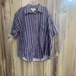 Natural Issue Size Large Patterned Button Down